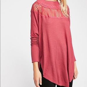NEW Free People Small Red Spring Valley Thermal